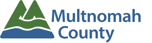 Multnomah County Logo of mountains and river