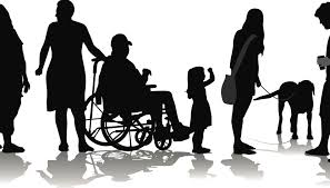 silhouettes of people with various dissabilities