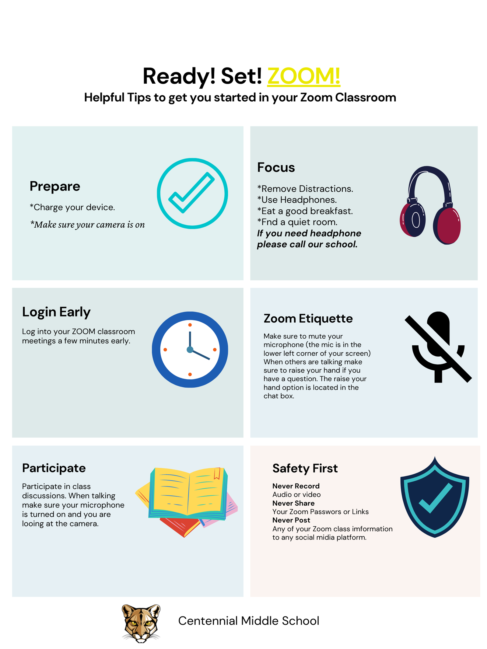 Zoom tips for online classroom English